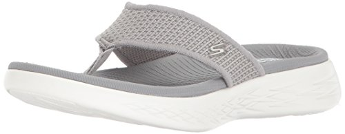 Skechers Damen on The Go 600 Sandalen, Grau (Grey), 41 EU
