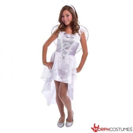 Teen Angel Mädchen Kostüm klein mittel -