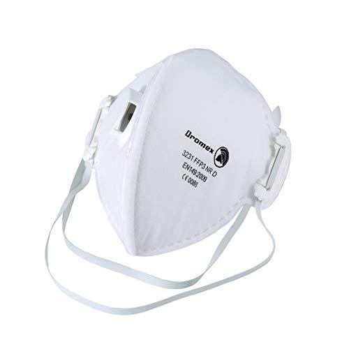 Antivirus Dromex N95 y máscara PM2.5, máscara FFP3 con válvula de respiración cómoda, filtro eficaz 99% de bacterias y polvo, máscara de seguridad unisex antiinfección (1)