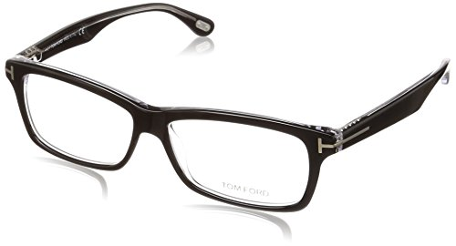 Tom Ford Herren FT5146 003 56 Brillengestelle, Schwarz (Nero/Cristallo)