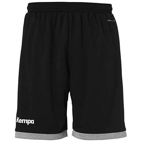 Kempa Core 2.0 Shorts Herren, schwarz/Dark grau Melange, S