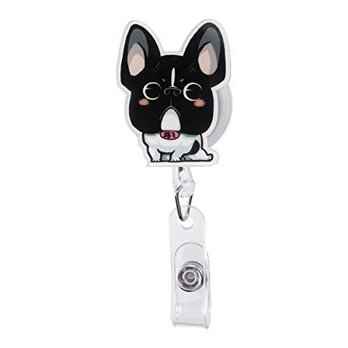 YeahiBaby Carrete de Insignia en Forma de Perro Retráctil para Oficina