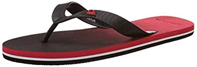 United Colors of Benetton Men's Red and Black 901 EVA Flip-Flops and House Slippers - 7 UK
