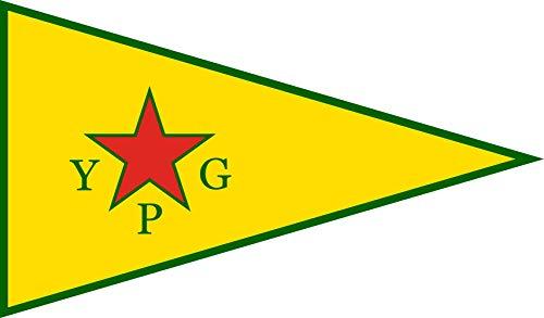 magFlags Flagge: XL People s Protection Units | People s Protection Units YPG ; Official Armed Wing of The Kurdish Supreme Committee | Querformat Fahne | 2.16m² | 120x180cm » Fahne 100% - Ersten Fahne Garten S