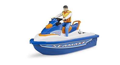 Jet-ski (Bruder 63150 Personal Water Craft mit Fahrer Fahrzeug, One Size)