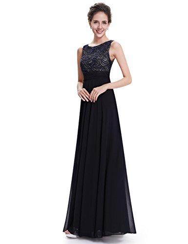 Ever Pretty Robe de cocktail Col Rond Elegante Maxi 08679 Noir
