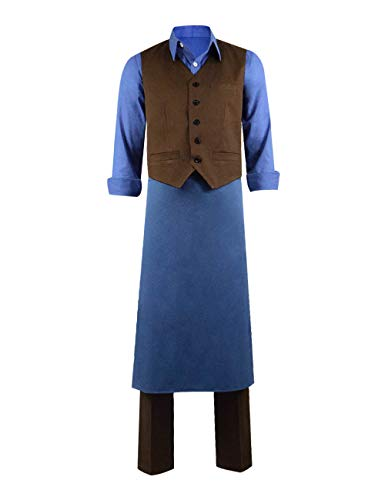 IDEALcos Bauer Franz Cosplay Kostüme Halloween Full Set Outfits (S, Blau - Land Bauer Kostüm