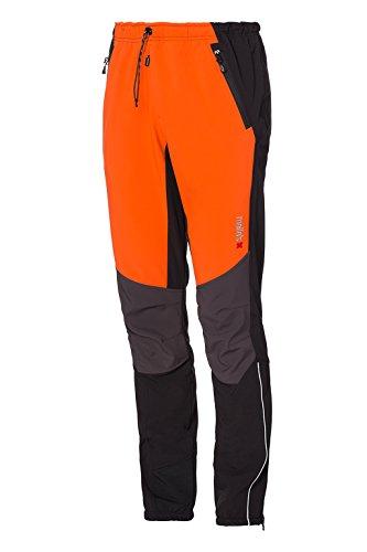 Mello's Ripid Speed Hose Farbe Orange/Schwarz, Größe 48, Softshell-Hose Winddicht geeignet für Skitouren Trekking Mountain Wandern