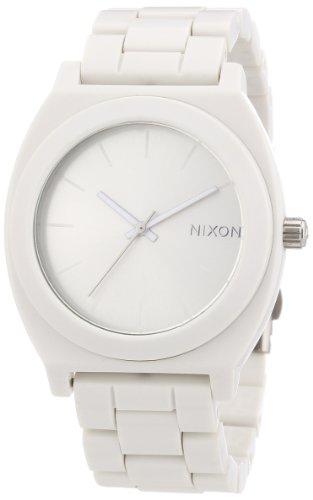 Nixon The Time Teller Acetate White A327100-00 - Orologio da polso unisex, cinturino in plastica colore bianco