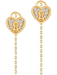 54027ac7c0c0 Gelin - Pendientes para mujer de 14 quilates – oro 585 auténtico