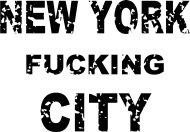 Mister Merchandise Cooles Fun T-Shirt NEW YORK fucking CITY Weiß