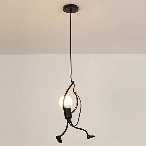 �ngende kronleuchter, Kinderzimmer industrielle anhänger zeitgenössische kreative schwarz metall lampe anhänger diy kunst design beleuchtung ausgesetzt ()