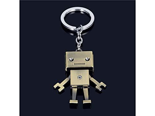 (Niedlicher Schlüsselring Realistische Retro Mechanische Roboter Anhänger Männer Schlüsselanhänger Geldbörse Auto Dekoration Keyring_Bronze)