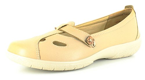 New Ladies/Womens Beige Hotter Nirvana Leather Mary Jane Style Shoes. - Beige...