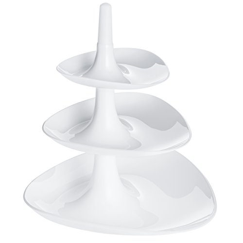Koziol 3186525 Compotier Betty Blanc, Plastique, 22,1x22,4x25,1 cm