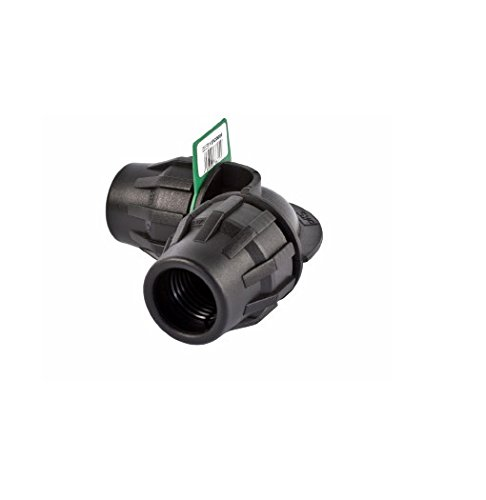 SYR Brico Fitting – Coude 90 °, 15 x 8 x 5 cm, Couleur Noir