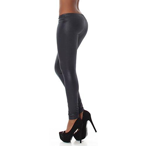 Jela London - Legging - Tapered - Uni - Femme Anthrazit-Grau