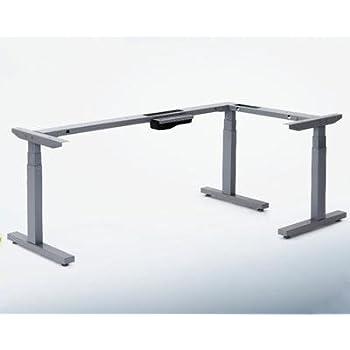 Office Fitness L Shaped Adjustable Corner Desk Frame Only 1410x1000