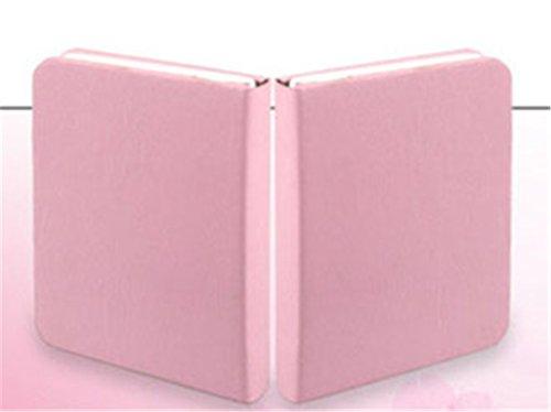 XIAOBIDENG 7 wechselnde Farben Mini LED Leselampe PU Leder USB-energiesparende Nachtbeleuchtung Faltung tragbare Buch Tischleuchte Dekor Pink