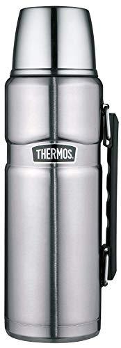 THERMOS 4003.205.120 Isolierflasche Stainless King, Edelstahl Mattiert 1,2 Liter, Drehverschluss, 24 Stunden heiß, 24 Stunden kalt, BPA-Free