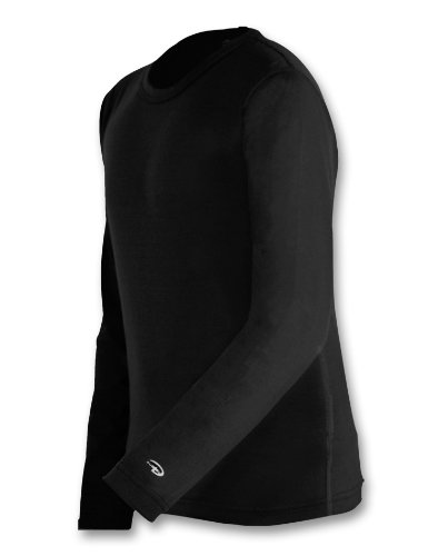 Black Thermal Langarm-shirt (Duofold von Jungen Mid-Weight Langarm Thermal Crew Shirt_Black_XL)