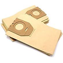 vhbw 10 bolsa papel para aspirador robot aspirador multiusos Philips HR 6020 Oslo, 6300,