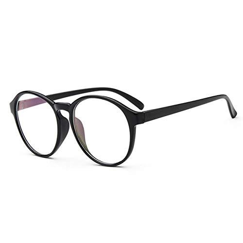 FANGUGF Gläser Plain Glass Glasses Weibliche Kunststoff-Brille Mit Halbkreisförmigem Rahmen. Optische Schutzbrille