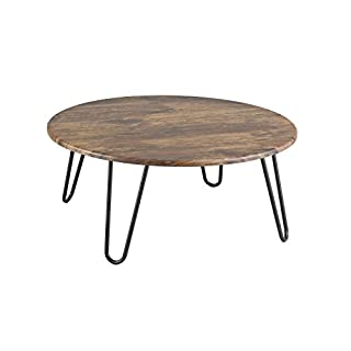 Aspect Brockton Round Coffee Table, Wood, Vintage 1, 80 x 80 x 35 cm
