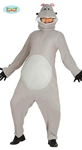 KOSTÜM - NILPFERD - Größe 52-54 (L), Tierkostüme Flusspferd Säugetiere (Kostüme Erwachsene Nilpferd)