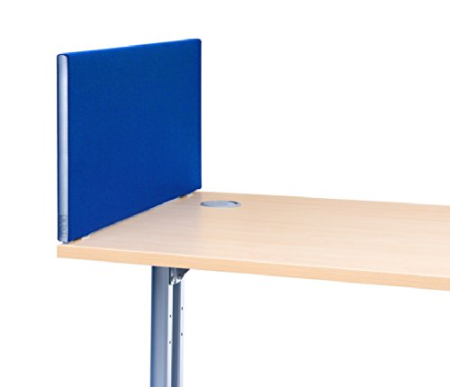 """""""Speedy"""" Office Desktop Screens/Partitions, 480mm high x 800mm wide in Royal Blue Test"""