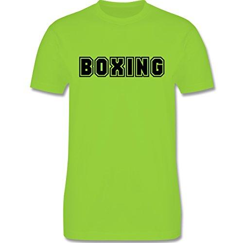 Kampfsport - Boxing Schriftzug - Herren Premium T-Shirt Hellgrün