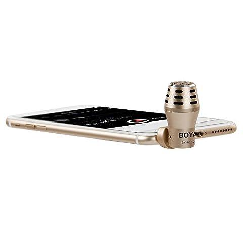 BOYA BY-A100 Mini Microphone omnidirectionnel à condensateur pour iPhone, iPad,