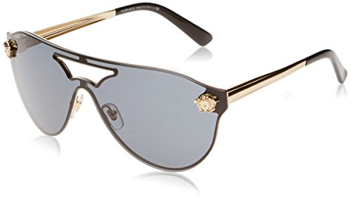 Versace Damen 0VE2161 100287 0 Sonnenbrille, Gold/Gray, 63