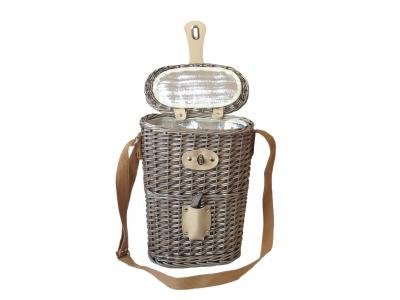 2 Bottle Chilled Carry Basket with Bottle Opener