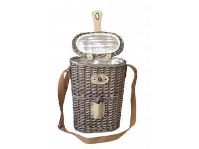 Kühltaschen Korb Für 2 Flaschen Wein - Ideal Für Picknick Ausflüge - Picknick-korb Uk