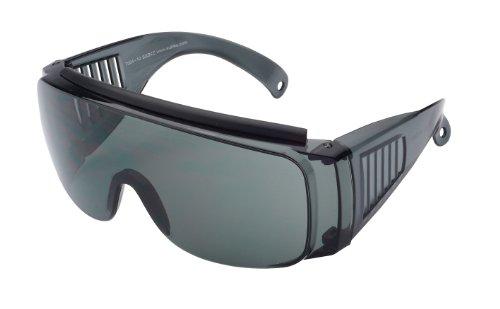 Sport Sonnenbrille Sportbrille zum Überziehen, dunkelgrau / grau, No. 7004-10