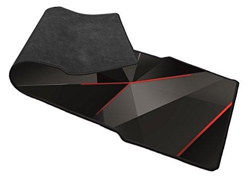 Trust GXT 209 - Alfombrilla XXL para ratón y teclado gaming, negro