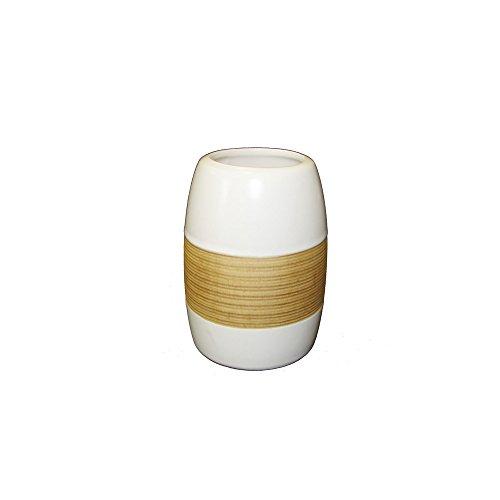 beiger Zahnputzbecher aus Keramik aus der Badaccessoires Serie SABBIA