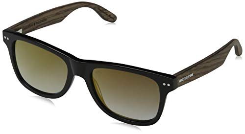 Wood Fellas Unisex-Erwachsene Sunglasses Basic Plassenburg Sonnenbrille, Walnut, 53