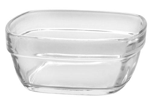 Duralex LYS 2032AF06 Schälchen, eckig, stapelbar, aus Glas, 11x4,6cm, Transparent Duralex Lys