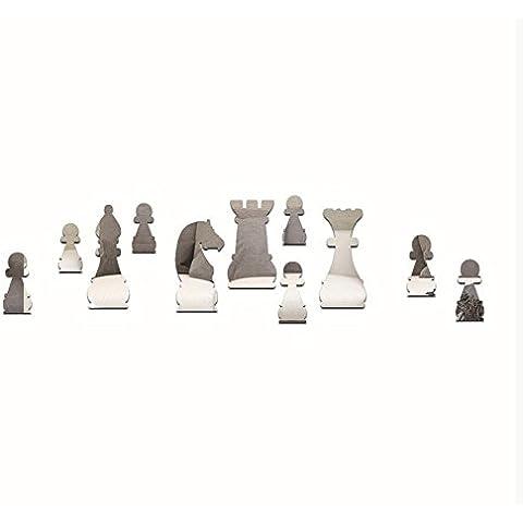 MSRRY Green Crystal Set di scacchi e tridimensionale acrilico specchio a parete , pubblicato postato argento
