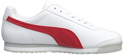 Puma Roma Basic Synthétique Chaussure de Marche White-High Risk Red