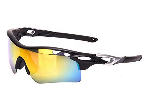 Lafeil Sportsonnenbrille Damen Damen Herren Sport Sonnenbrillen Myopie Polarisator Weibliche Männer Reiten Gläser Schwarz Silber
