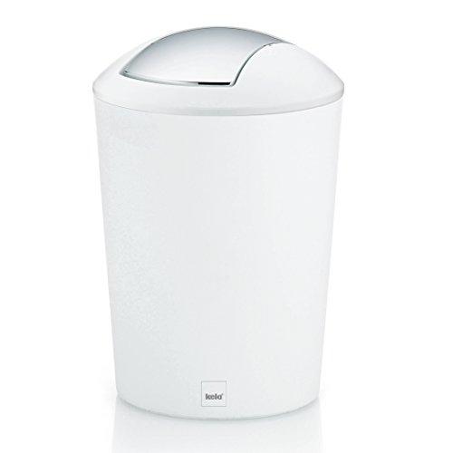Kela 22301 Schwingdeckeleimer 5 L, Kunststoff, Marta, Weiß