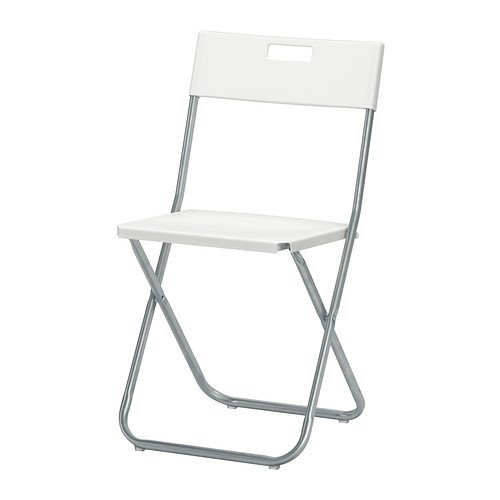 Gunde Silla Plegable, Color Blanco