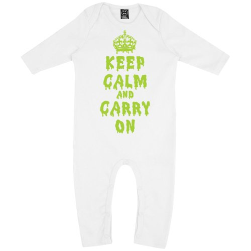 Batch1 Baby Girls Dripping Keep Calm And Carry On Long Sleeve Fancy Dress Babygrow Rompasuit