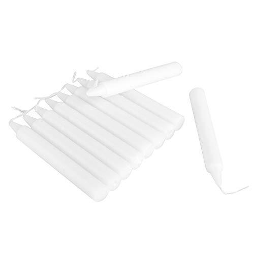 ewtshop® 30 Velas Blancas, Altura 11,5 cm, 12,5 mm de diámetro, para cumpleaños, Celebraciones, festividades, Navidad, árbol de Navidad