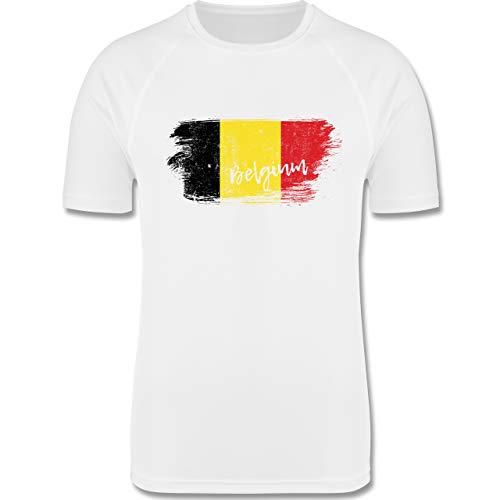 Städte & Länder Kind - Belgien Vintage - 164 (14-15 Jahre) - Weiß - F350K - atmungsaktives Laufshirt/Funktionsshirt für Mädchen und Jungen