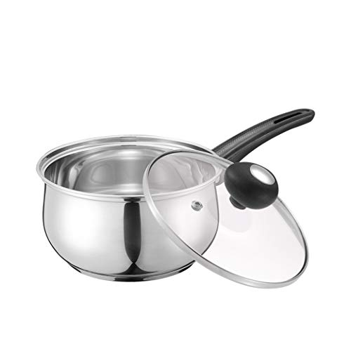Pentola di Latte in Acciaio Inox Pentola di zuppa Singola Mini Pot Noodle Pot di Pasta istantanea Pot Supplemento di Cibo per Bambini Pot di Latte Caldo per Uso Domestico