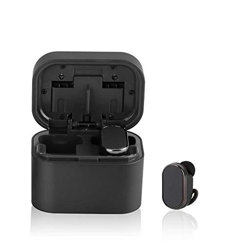 Bluetooth 5.0 drahtlose Ohrhörer, drahtlose Kopfhörer Bluetooth Ohrhörer drahtlose Kopfhörer mit Lade Fall Mini 3D Stereo Sound Binaural für IPhone Samsung Android Telefone (schwarz) thumbnail